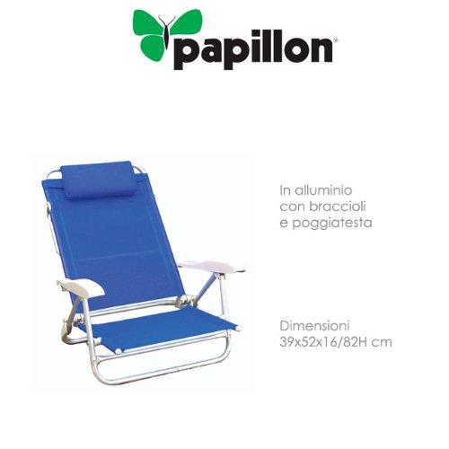 PAPILLON sedie in Alluminio con braccioli e poggiatesta Copertura textile'ne Playa - 1