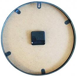 Perla pd design, Orologio da parete, in metallo con quadrante in vetro, design vintage, bianco anticato laccato, diametro circa 30 cm, Metallo, Old Town - 1