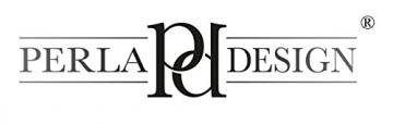 Perla pd design, Orologio da parete, in metallo con quadrante in vetro, design vintage, bianco anticato laccato, diametro circa 30 cm, Metallo, Frühlingsgarten - 5