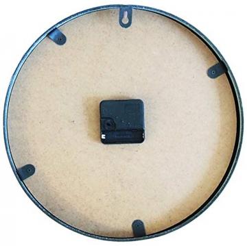 Perla pd design, Orologio da parete, in metallo con quadrante in vetro, design vintage, bianco anticato laccato, diametro circa 30 cm, Metallo, Frühlingsgarten - 1