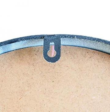 Perla pd design, Orologio da parete, in metallo con quadrante in vetro, design vintage, bianco anticato laccato, diametro circa 30 cm, Metallo, Old Town - 4