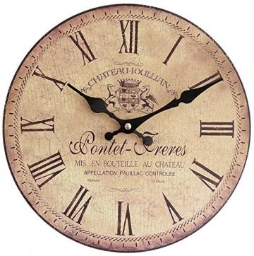 Perla PD Design Orologio da parete orologio da cucina Design Vintage Pontet Freres, diametro 28cm - 1