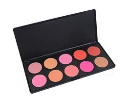 PhantomSky 10 Colori Difficoltà Polvere Pressata Blush Fard Viso Palette Trucco - Perfetto per l'uso quotidiano e professionale - 1