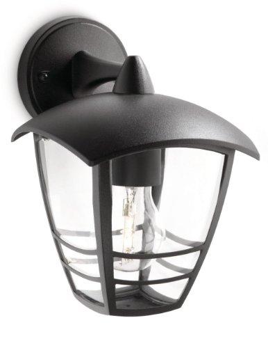Philips Creek Lampada da Parete per Esterno, Lanterna Down, Alluminio Nero - 1