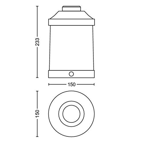 Philips Lighting Abelia Lampada da Tavolo da Esterno Senza Fili, LED Integrata, Nero, XL - 1