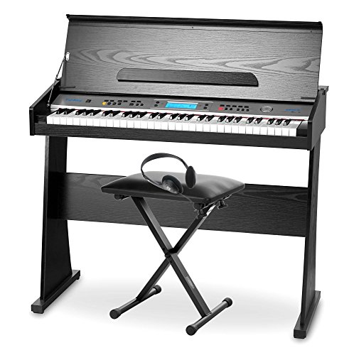Pianoforte digitale FunKey DP-61, incluso supporto, panchetta e cuffie - 1