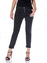 Please, Jeans donna P78A baggy (Nero, XX-small) - 1