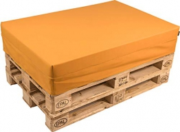 pomodone Cuscino per Pallet 120x80cm in Ecopelle Arancione - 1