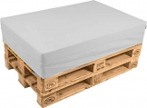 pomodone Cuscino per Pallet 120x80cm in Ecopelle Bianco - 1