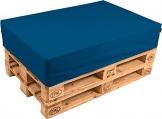 pomodone Cuscino per Pallet 120x80cm in Ecopelle Blu - 1