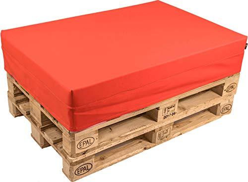pomodone Cuscino per Pallet 120x80cm in Ecopelle Rosso - 1