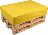 pomodone Cuscino per Pallet 120x80cm in Ecopelle Senape - 1