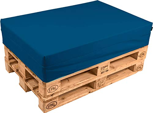 pomodone Cuscino per Pallet 120x80cm in Tessuto Blu - 1