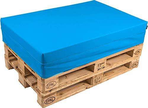pomodone Cuscino per Pallet 120x80cm in Tessuto Blu Royal - 1