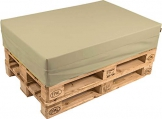 pomodone Cuscino per Pallet 120x80cm in Tessuto Sabbia - 1