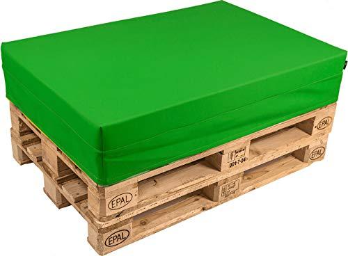 pomodone Cuscino per Pallet 120x80cm in Tessuto Verde - 1