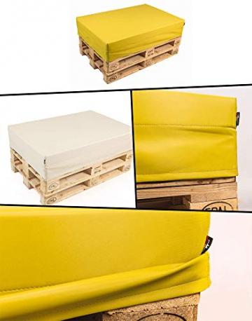 pomodone Cuscino per Pallet 120x80cm in Tessuto Verdone - 4