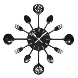 Premier Housewares PREM-2200502 Orologio da Parete, Metallo, Nero, 33x4x33 cm - 1