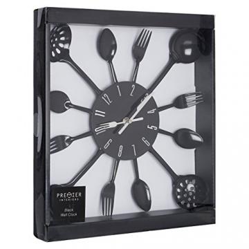 Premier Housewares PREM-2200502 Orologio da Parete, Metallo, Nero, 33x4x33 cm - 2
