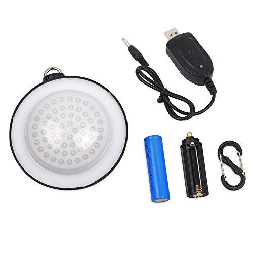 Proster Lanterna da Campeggio/LED Lanterna Lampada Luce da Campeggio Portatile - Luce Notturna 60 LED da Tenda Esterno Interno con Batteria Ricaricabile e USB Cavo per Campeggio Escursione - 1