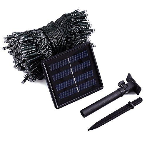 Qedertek Luci Solare da Esterno, Catena Luminosa Solare 22M 200 LED, Luci Stringa Impermeabile IP65 con 8 Modalità di Lampeggiata, Luci Decorazioni per Giardino, Terrazza, Balcone (Bianco Caldo) - 1