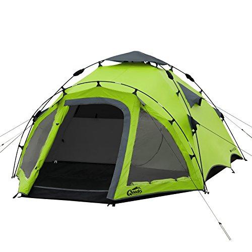 Qeedo Quick Oak 3 Tenda da Campeggio 3 posti Automatica (Quick Up System) - Verde - 1
