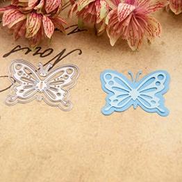 Qiman - Fustelle a Forma di Farfalla per Scrapbooking Fai da Te - 1