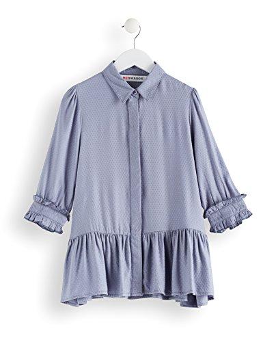 RED WAGON Camicia con Volant Bambina, Blu (Blue), 140 (Taglia Produttore: 10 Anni) - 1
