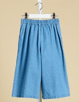RED WAGON Pantaloni in Chambray Modello Cropped Bambina, Blu (Light Blue), 116 (Taglia Produttore: 6 Anni) - 1