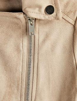 RED WAGON Suedette Biker Jacket Giubbotto Bambina, Beige, 140 (Taglia Produttore: 10) - 1