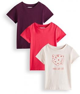 RED WAGON T-shirt con Stampa Bambina, Pacco da 3, Multicolore (Mauve Morn Virtual Pink Potent Purple 12-2102 Tcx 18-1856 Tcx 19-2520 Tcx), 134 (Taglia Produttore: 9) - 1
