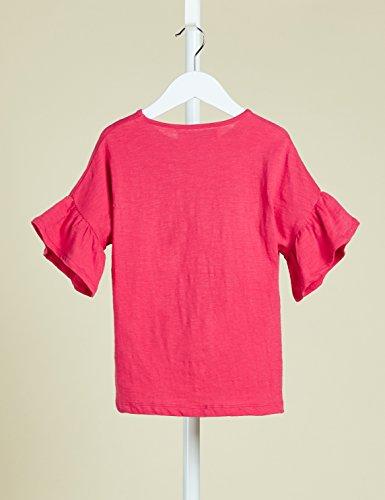 RED WAGON T-shirt con Volant alle Maniche Bambina, Rosso (Virtual Pink), 116 (Taglia Produttore: 6 Anni) - 1
