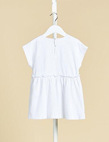 RED WAGON T-shirt in Cotone con Ricami Bambina, Bianco (White), 128 (Taglia Produttore: 10) - 1