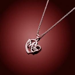 Regali Festa della Mamma, Deesos Collana miglior regalo per il compleanno della mamma cuore diamante collana pendente per la mamma compleanno oro rosa - 1