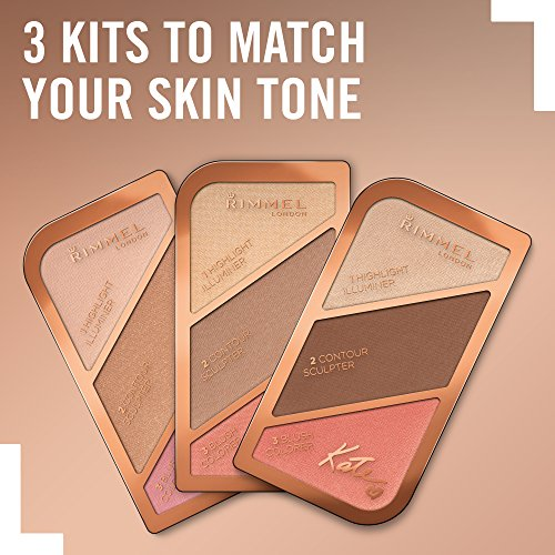 Rimmel - Sculpting Palette By Kate - Set Completo Contouring Viso: Illuminante, Terra e Blush - Coral Glow - 1