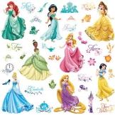 RoomMates 21990 - Principesse Disney Adesivi da Parete con Glitter - 1