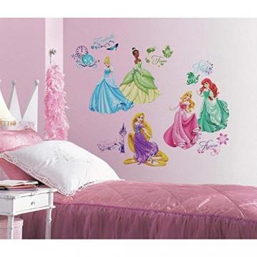 RoomMates 21990 - Principesse Disney Adesivi da Parete con Glitter - 2