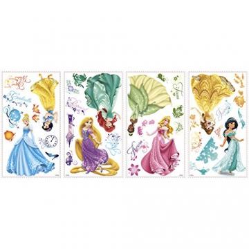 RoomMates 21990 - Principesse Disney Adesivi da Parete con Glitter - 3
