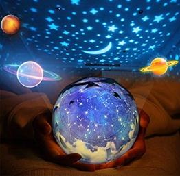 Rotante Stella Proiettore di luce, Bambino Luce notturna, 5 Stili Decorativo Luce d'atmosfera per Bambino Bambino Camera da letto, Salotto Party (USB alimentato/Batterie azionate) - 1