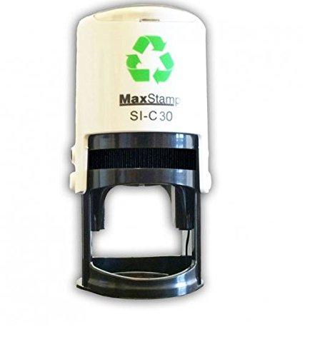 Rustico–matrimonio auto inchiostrazione personalizzato timbro Save the date–28mm circ - 1