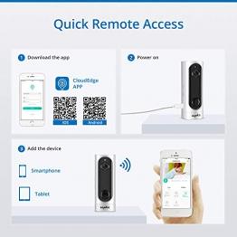 SANNCE 720P HD IP Telecamera Ricaricabile Senza Fili con Batteria Integrata Smart IR Night Vision Rilevamento Movimento PIR Audio Bidirezionale Supporto Max 128GB TF Card APP Alarm Push - 1