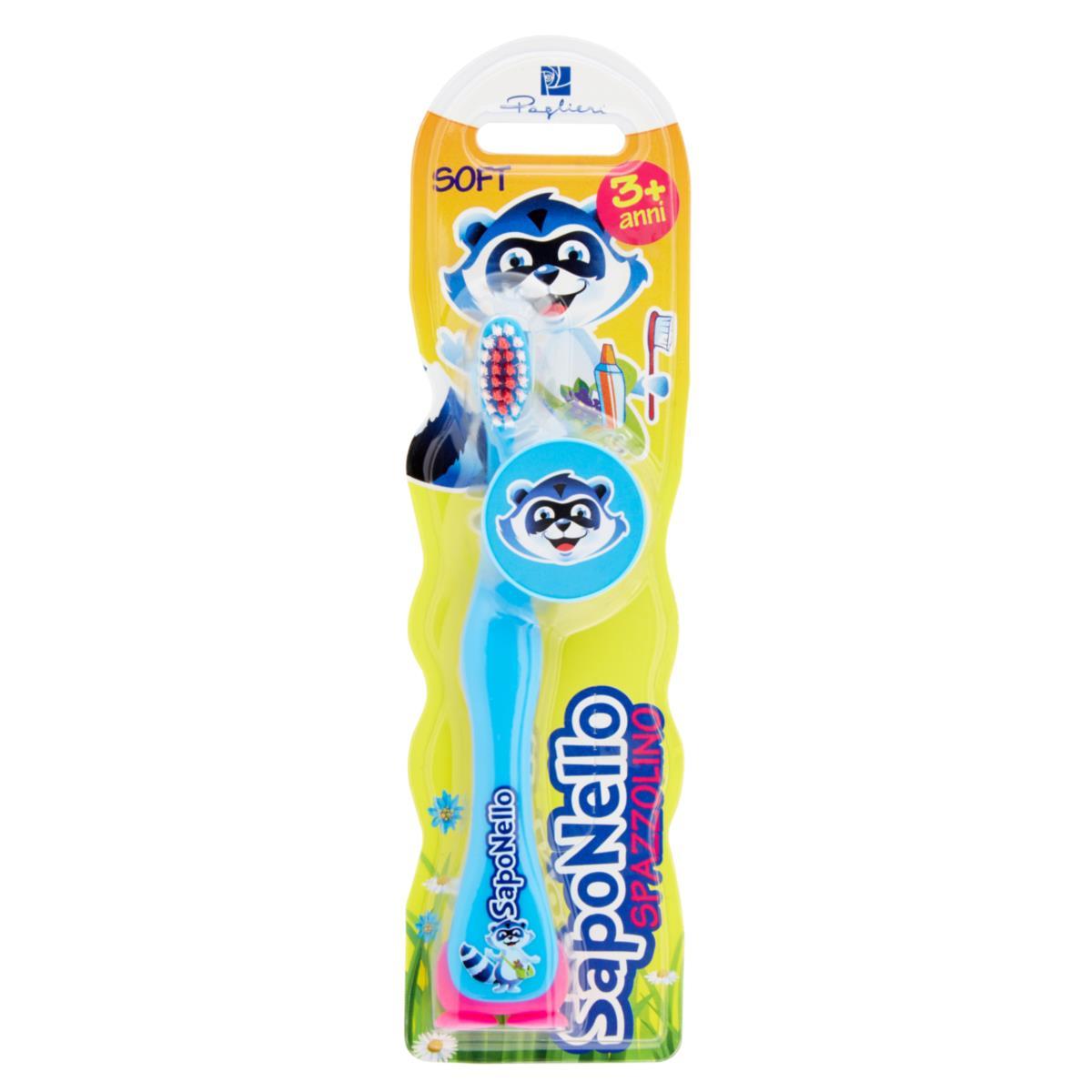 saponello spazzolino bimbo baby 3+