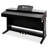 Schubert E-Piano pianoforte elettronico digitale (88 tasti, 3 pedali, tastiera musicale digitale, MIDI, display LCD) - nero - 1