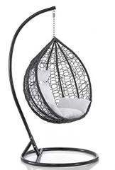 Sedia a dondolo sospesa per interno e esterno con cuscino Modello Elettra - 1