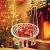 Sedia Sospesa ad Altalena, Lavorata a maglia con Corda in Cotone con Romantiche Frange Macrame', Sedia Amaca ad Altalena per Interni/Esterni, Patio, Terrazzi, Cortile, Giardino, Bar, Capacità 120 Kg - 1