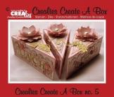 Set da 3 FUSTELLE Crealies Create a Box fetta di torta compatibili con Big Shot - 1