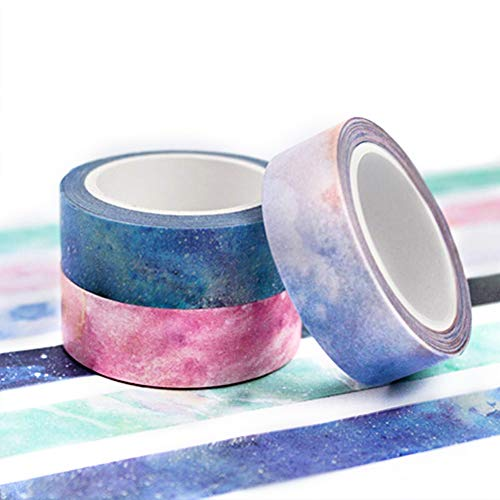 Set di 7 Washi tape, bricolage per fai da te, decorativo Craft, pacchi regalo, scrapbook - 1