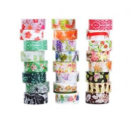 Set di nastro per mascherare Washi di 24, Collezione di nastro adesivo decorativo, Nastro per bricolage artigianato e regali - 1