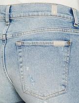 Seven for all Mankind International SAGL Asher, Jeans Boyfriend Donna, Blu (Vintage Larchmont Distressed 0vn), W27/L28 (Taglia Produttore: 27) - 1