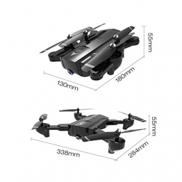 SG900-S 2.4G RC Drone pieghevole Selfie Smart GPS FPV Quadcopter con 1080P HD Camera Altitude Hold Seguimi One Key Return (Colore: Nero) - 1